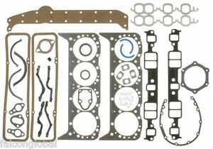Chevy 265 283 302 307 327 350 Victor Reinz Full Gasket Set Head+Intake 1957-79