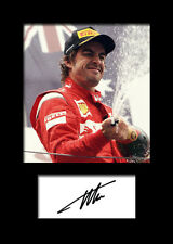 FERNANDO ALONSO #4 Signed Photo Print A5 Mounted Photo Print - FREE DELIVERY