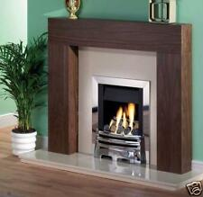 Orwell Walnut fire surround with cream marble set (back & hearth)