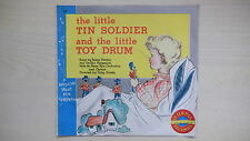 """Peter Pan Records The LITTLE TIN SOLDER and the LITTLE TOY DRUM 7"""" 78rpm 1953"""
