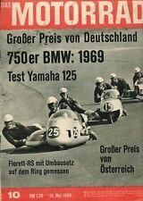M6810 + Test YAMAHA YAS-1 125 ccm Zweizylinder + Das MOTORRAD 10/1968