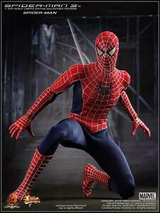 """Hot Toys 12"""" Spiderman 3 Movie Version Red Costume"""