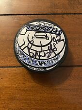Danbury Trashers Signed Puck Brad Wingfield #42 Authentic Great Condition!