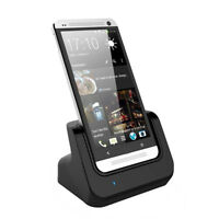 Desktop Charging Cradle Stand Charger Dock + USB Cable For HTC One M7 док Black