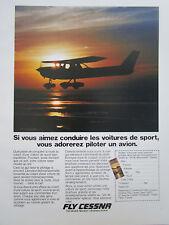 1981 PUB CESSNA AIRCRAFT FLUGZEUG AVION ORIGINAL FRENCH AD