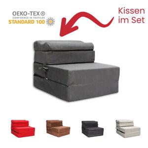 2 in1 Klappsofa Sessel Faltmatratze 200x70x15 cm Gästebett Reisebett Schlafplatz