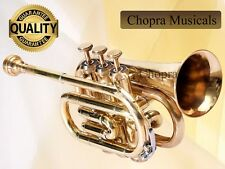 Classic Pocket Trumpet 3 V with Hard Case+Mouth Piece Free Ship