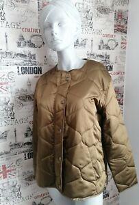 Marks & Spencer Gold Khaki Collarless short quilted jacket size 121 UK Summer