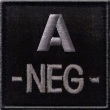 ECUSSON A- NOIR GROUPE SANGUIN A NEG NEGATIF INSIGNE LS