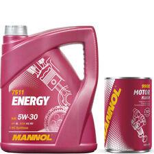 4 litros de aceite del motor 5w30 MANNOL energy 350ml motorspülung Flush