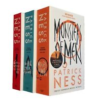 Patrick Ness 3 Books Chaos Walking Trilogy Science Fiction Horror Teen Adult New