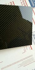"Carbon Fiber Fiberglass Panel Sheet 30""×36""×1/8"" Glossy One Side"