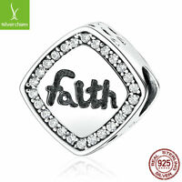 """Christmas 925 Sterling Silver Letter """"Faith"""" Bead Charms Fit Bracelets & Bangles"""