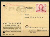 Berlin Nr: 62 saubere EF Berlin Charlottenburg - Nürnberg 13.8.1949 KW 160 €