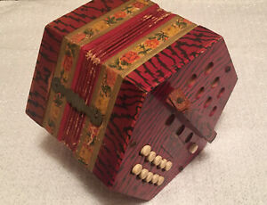 Vintage Concertina Accordion 20 Button - Germany USSR Occupied