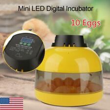 Mini Digital 10 Eggs Incubator with Alarm System & Fan Pourtry Duck Bird Chicken