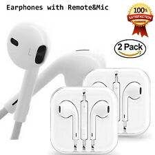 2PC Headphones Earphones With Remote & Mic For  iPhone 6S 6 5 5S 4S Galaxy S10