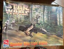 """Star Wars Model Kit: AMT/ERTL Speeder Bike Flight Display  Box 12""""x17"""""""
