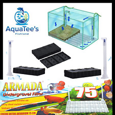 ARMADA 75CM UNDER GRAVEL FILTRATION SET FILTER UNDERWATER FISH TANK NANO PUMP
