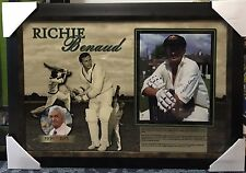RICHIE BENAUD SIGNED AND FRAMED PHOTO LITHOGRAPH