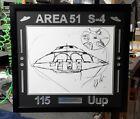 "Bob Lazar Signed Area 51 ""Sport Model"" UFO Print 115 Uup (Custom Framed) JSA COA"