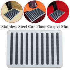 "Car SUV Floor Carpet Mat 9"" x 6"" Stainless SteelPatch Foot Heel Plate Pedal Pad"