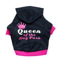 Crown Princess Puppy Clothes Chihuahua Dog Jacket Soft Cotton Dog Hoodie Coat