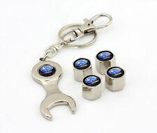 Subaru Blue logo Tire wheel Valve Cap keychain WRX GC8 GDF GDB STI Impreza New
