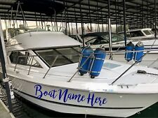 BOAT DECALS SET OF 2 CUSTOM NAME STICKER 6 X 40 PERSONALIZED DECAL LETTERING