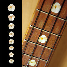 Hibiscus Flowers Fret Marker Ukulele Inlay Sticker Decal In MOP Theme