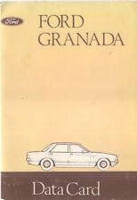 Ford Granada Data August 1977 Pub. No. CG 385/EN