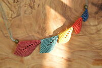 Märchnhaftes Unikat Dawanda Collier NEU handgefertigt Metall Perlen