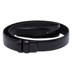 "35 mm Black Leather Belt Strap Replacement Men's Belts buckles Adjustable Sz 40"""