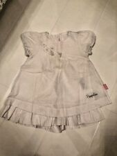 BABY GIRLS WHITE COTTON PAMPOLINA DOUBLE LAYER DRESS – 12-18 MTH (80CM)