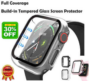 Apple Watch Screen Protector 6 5 se 44/42/40/38 Full PC Built-In Tempered Glass
