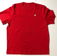 Apple Logo Short Sleeve T Shirt Embroidered Red Size XL