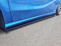 CUP 3 Seitenschweller Schweller Sideskirts ABS BMW 1er E81 E88 E82 schwarz glanz