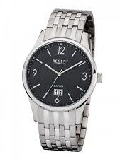 Regent Herrenuhr Uhr Edelstahl Saphirglas Datum Armbanduhr UM-1609
