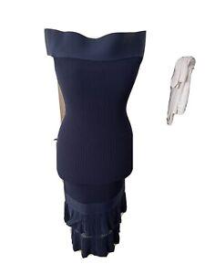 Roland Mouret Navy Bodycon Dress New Navy Beautiful Dize 10 Uk