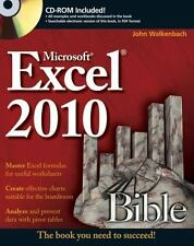 Excel 2010 Bible 593 by John Alexander and John Walkenbach with CD!!
