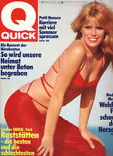 Kult-Illustrierte QUICK, Nr. 24 v. 1979, Patti Hansen Cover, Hermann Gmeiner SOS