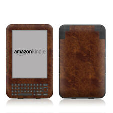Kindle Keyboard Skin - Dark Burlwood - Sticker Decal