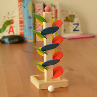 Wooden Tree Ball Run Track Play Game Supplies Kids Educational Intelligence Toy.