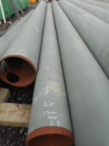 """Steel tube 13mm wall 28' 8.5m long 14"""" od drainage pipe"""