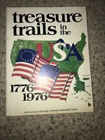 Vintage Hardcover Book Treasure Trails Of The USA 1776-1976 Copyright 1975
