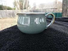 Denby Regency Green Exterior Brown Trim White Interior Sauce/Gravy Boat