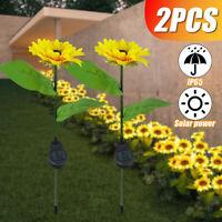 Outdoor Solar LED Flower Light Waterproof Flower Stake Lamp Home Garden  G
