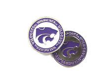 NCAA Kansas State Wildcats Golf Ball Marker Enamel Metal Team Logo 2 Sided Hat
