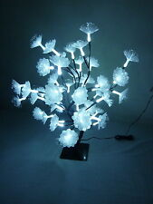 45CM 48 White LED  Bonsai White Fibre Optic Flower Christmas Tree