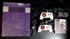 Nintendo NES Classic Console System Custom Silver Purple controller game bundle